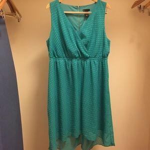 LANE BRYANT teal colored polka dot dress 18/20